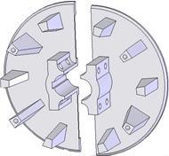 Kladka litinová-rozteč 40/40 mm (60)