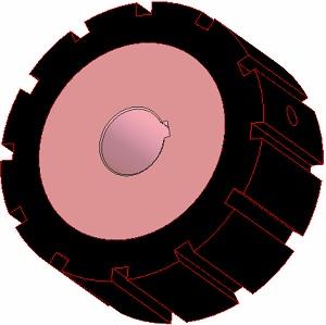 Kladka pogumovaná (266)  AVR 742.20.80