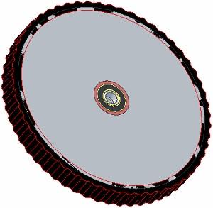 Kolo pogumované 45 mm (247)